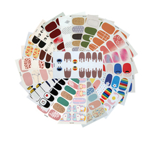 10/20pcs Mixed Designs Full Cover Nail Art Stickers Christmas French Glitter Self-adhesive Decals Slider Wraps Decor Manicure