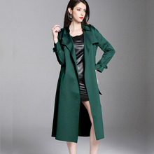 2020 Spring Fall Womens Clothes , Woman Green Black Epaulet Long Trench Coat , 5