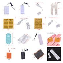 Tapis de Massage chauffant USB 5-12V, plaque chauffante Portable pour réchauffer le corps et les pieds en hiver, tapis de souris chaussures Golves soins de santé
