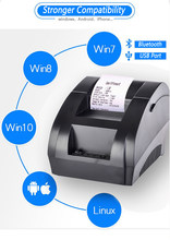 Zjiang Thermal Printer 58mm POS Receipt Printer Bluetooth USB Port For Mobile Phone Android iOS Windows For and Supermarket(China)