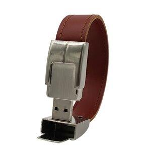 Image 4 - TEXT ME unidad flash USB, 64gb, llavero de metal y piel, Pendrive creativo, 32gb, 16gb, 8gb, 4gb, USB 2,0
