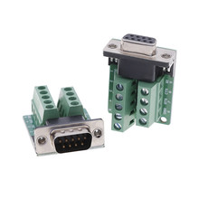 Signals Terminal Module RS232 Serial To DB9 Connector 1PCS DB9 Male Female Adapter(China)