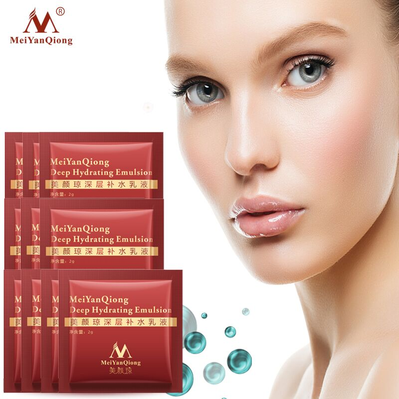 10pcs MeiYanQiong Deep Hydrating Emulsion Hyaluronic Acid Moisturizing Face Cream Skin Care Whitening Anti Winkles Lift Firming