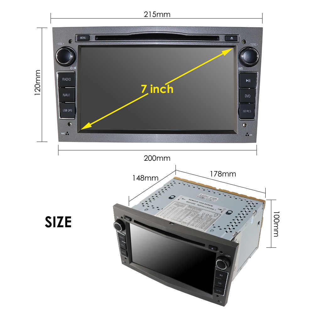 2 DIN Mobil DVD Stereo untuk Vauxhall Opel Astra H G Vectra Antara Zafira Corsa GPS Navi Radio RDS DTV SWC Bt Cermin Link 16G SD Peta