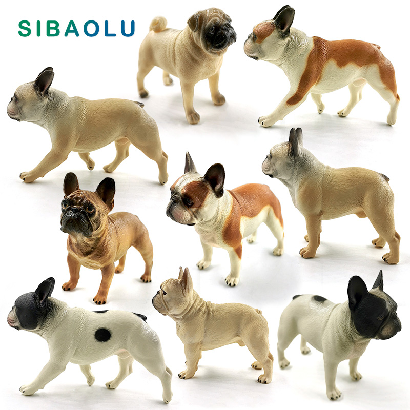 New Bulldog Simulation Farm Cute Dog Figurine Animal Model Diy Home Decor Miniature Fairy Garden Decoration Accessories Modern