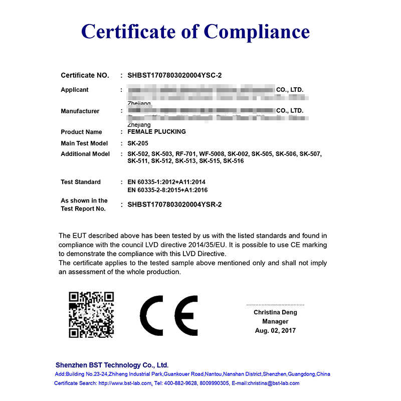 Certificación CE, depiladora Sk-513 para afeitar, doble propósito, cuchilla lavable, en húmedo y seco, doble propósito, iluminación LED