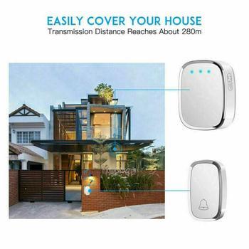 Reative Intelligent Wireless Remote Control Home Doorbell Polyphonic Waterproof 36 Doorbell Intelligent Music Range O1I4