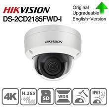 Hikvision caméra IP dorigine DS 2CD2185FWD I 8MP dôme réseau POE caméra IP H.265 caméra de vidéosurveillance fente pour carte SD IK10 IP67