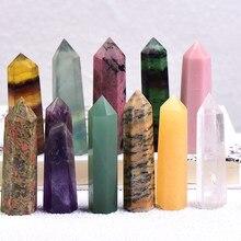 1pc coluna de cristal natural quartzo rocha mineral espécime cristal ponto quartzo arco-íris varinha decoração da casa reiki cura energia pedra