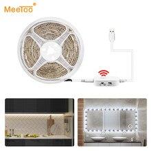 Capteur de mouvement PIR sous l'armoire bande de lumières LED Luminaria lampe de nuit intelligente 5V USB puissance armoire placard chambre cuisine lumière