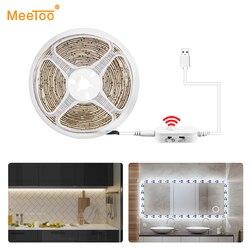 PIR Motion Sensor Under Cabinet Light LED Strip Luminaria Smart Night Lamp 5V USB Power Wardrobe Closet Bedroom Kitchen Light
