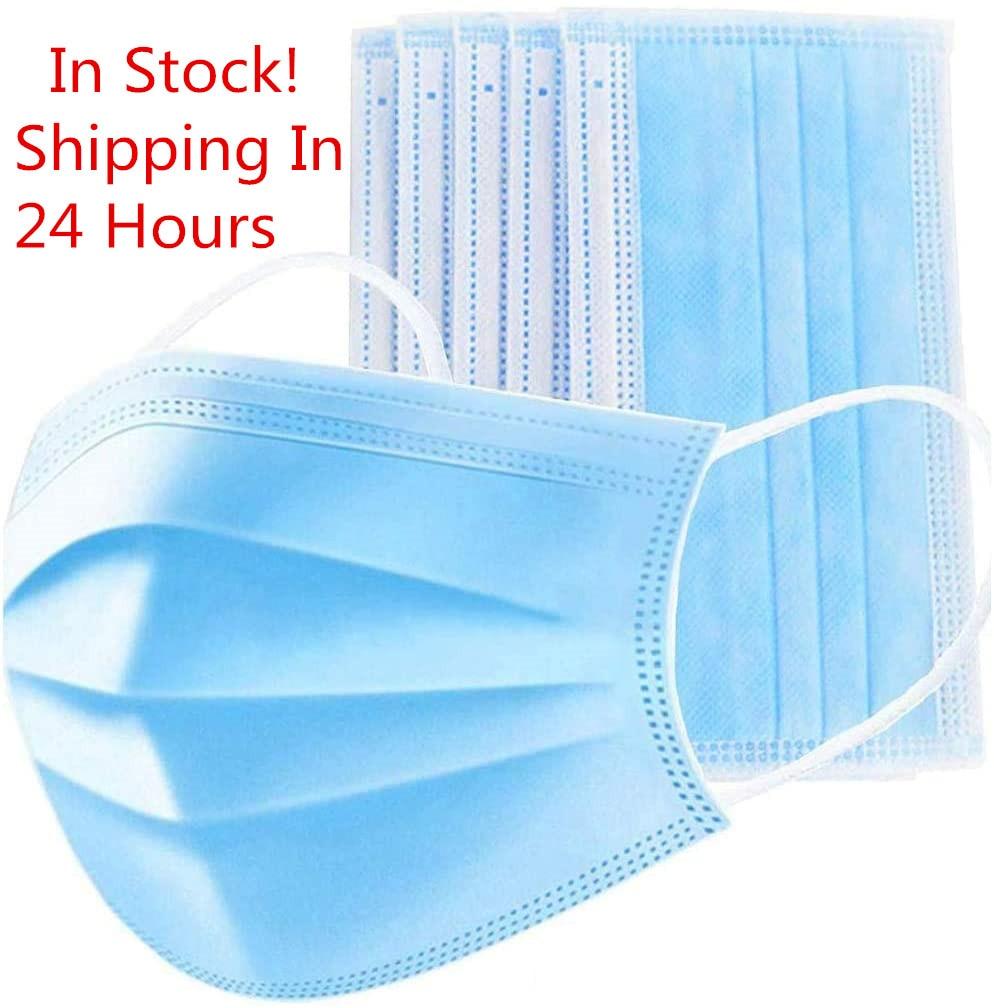 10 Pcs 3 Layer Protective Mouth Face Masks Disposable Face Mask Anti-Dust Anti-fog Protective Fold Filter Safety Masks