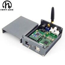 Bluetooth 5.0 decodificador de áudio de alta fidelidade usb dac do jogador amplificador es9038q2m + xmos xu308 com saída de 3.5mm jack rca