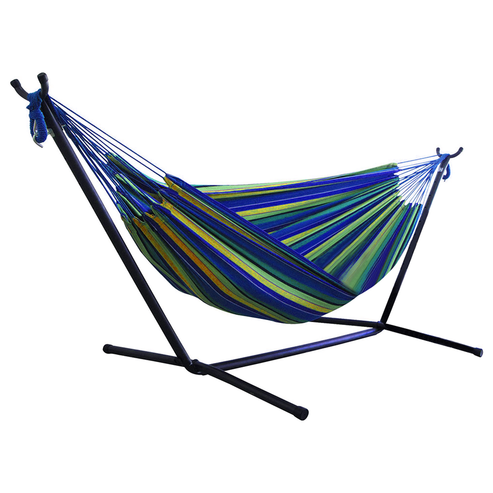 Portable Canvas Hammock Stand Multi-functional Practical Camping Sleep Swing Hanging Bed Garden Furniture without bracket