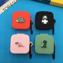 3D Cartoon Earphone Case for Xiaomi Air 2 Se TWS Soft Silicone Cute Wireless Bluetooth Headphone Protective Cover With Hook