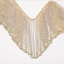 3Yards Rhinestone Fringe Trim Rhinestone Crystal Tassel Chain Trimming Glitter Beaded Fringe Sewing Crafts()