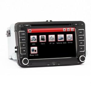 Image 3 - Eunavi 7 2 din Multimedia Player Car DVD GPS Navigation for VW Volkswagen GOLF 6 Polo New Bora JETTA PASSAT B6 SKODA Radio RDS