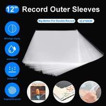 50 sztuk 12 #8222 OPP Record LP LD Record plastikowe torby antystatyczne rekord rękawy ochronny przezroczysty pokrowiec pojemnik dwustronnie 0 16 MM tanie tanio LEORY CN (pochodzenie)