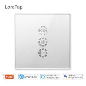 Image 1 - Tuya akıllı yaşam WiFi perde anahtarı gümüş elektrik motorlu perde kör panjur Google ev Alexa ses kontrolü