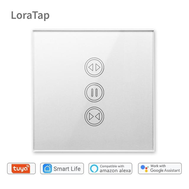 Tuya akıllı yaşam WiFi perde anahtarı gümüş elektrik motorlu perde kör panjur Google ev Alexa ses kontrolü