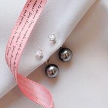 Leouerry 925 стерлингового серебра серьги с жемчугом для женщин
