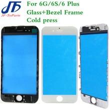 10 шт., сменная сенсорная панель для iPhone 8 7 6S 6 Plus 8G 8P 7G 7P 6SP 8Plus, передний внешний экран, стеклянная линза с рамкой
