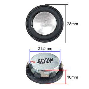 Image 2 - GHXAMP 1 inç 4Ohm 2W Mini hoparlör 28mm PU yan tam aralıklı ses orta kademe bas MP3 Bluetooth hoparlör yuvarlak 1 çift