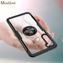 Clear Acrylic Case For Xiaomi Redmi Note 10 10S 9S 9 7 8 Pro Max 8T10Pro 9Pro 8Pro Note10 Note9 Note8 Note7 Cover Ring Hard Case