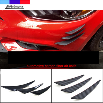 6PCS Carbon Car Bumper Lip Spoiler Wind Blade Sticker For Bmw E36 E46 E90 E91 E92 E93 E81 E82 E87 E88 E34 E39 E60 E61 E84 E83 Z4 image