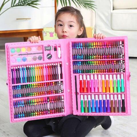 208 pcs conjunto de lapis colorido lapis
