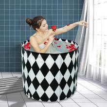 Ванна бочка для взрослых можно сложить Ванна бочка Бытовая ванна большая и Толстая Леди все тело фумигация Ванна
