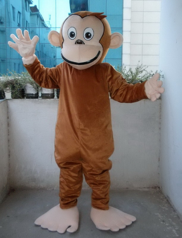 New Professional Cruious George Monkey Mascot Costume Adult Birthday Party Fancy Dress Halloween Cosplay Outfits Clothing Xmas