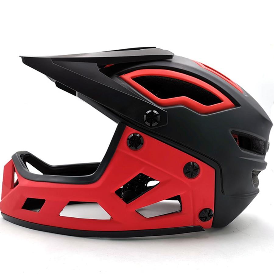 MTB サイクリングヘルメット赤フルフェイス自転車ヘルメットヘルメットトライアル DH レースダウンヒルスーパーマウンテンバイクヘルメットデュアルスポーツエンデューロ乗馬スパ -