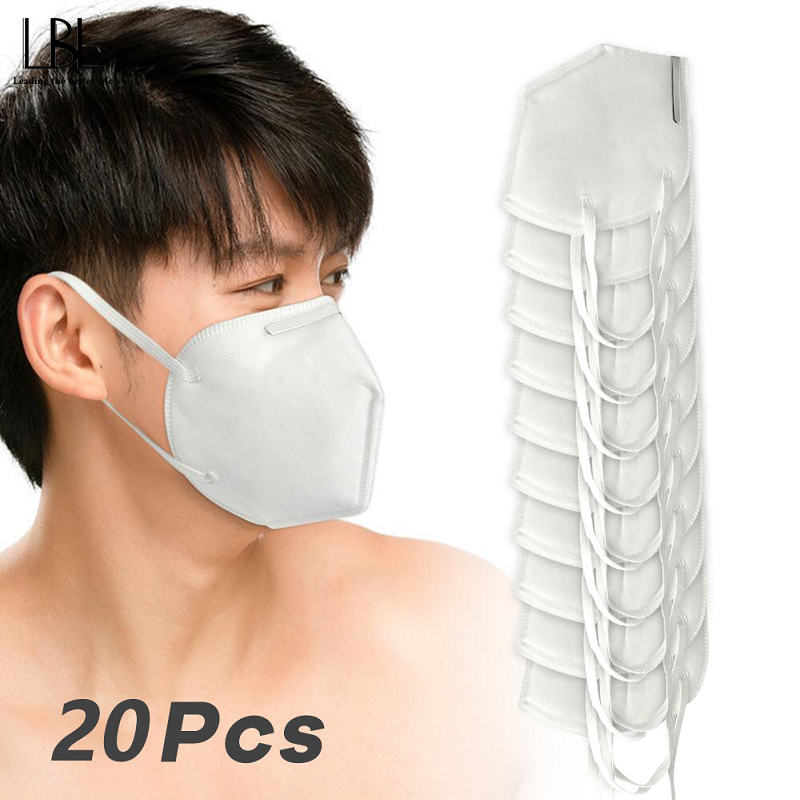 20PCS KN95 Mouth Mask Face Mask Dust Anti Infection KN95 Masks Respirator Particulate Pollution Protective Respirator Safety