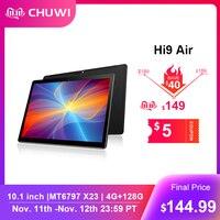 CHUWI Originale Hi9 Air Tablet Da 10.1 Pollici PC MT6797 X23 Deca Core 4GB di RAM 64GB ROM 2K schermo Dual 4G Android 8.0 Tablet 8000MAH