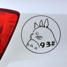 Aliauto Auto-Styling Totoro Grappige Auto Stickers Olie Type Tips Decals Accessoires Voor Toyota Volkswagen Polo Golf Renault Peugeot(China)