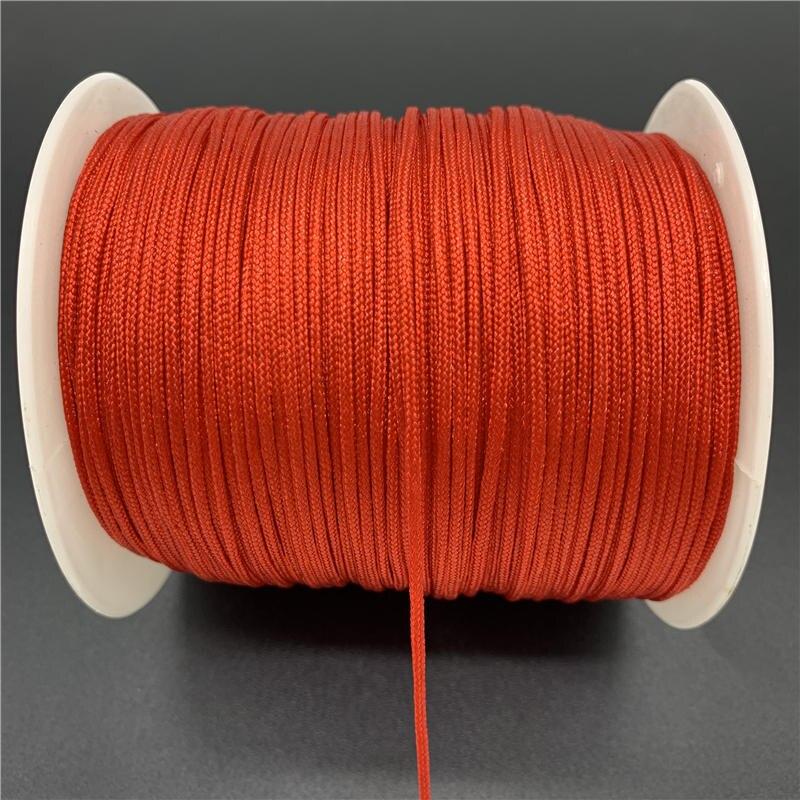 Macrame Cord Bracelet Tassels-Beading String Diy Shamballa Nylon Chinese Knot for Braided