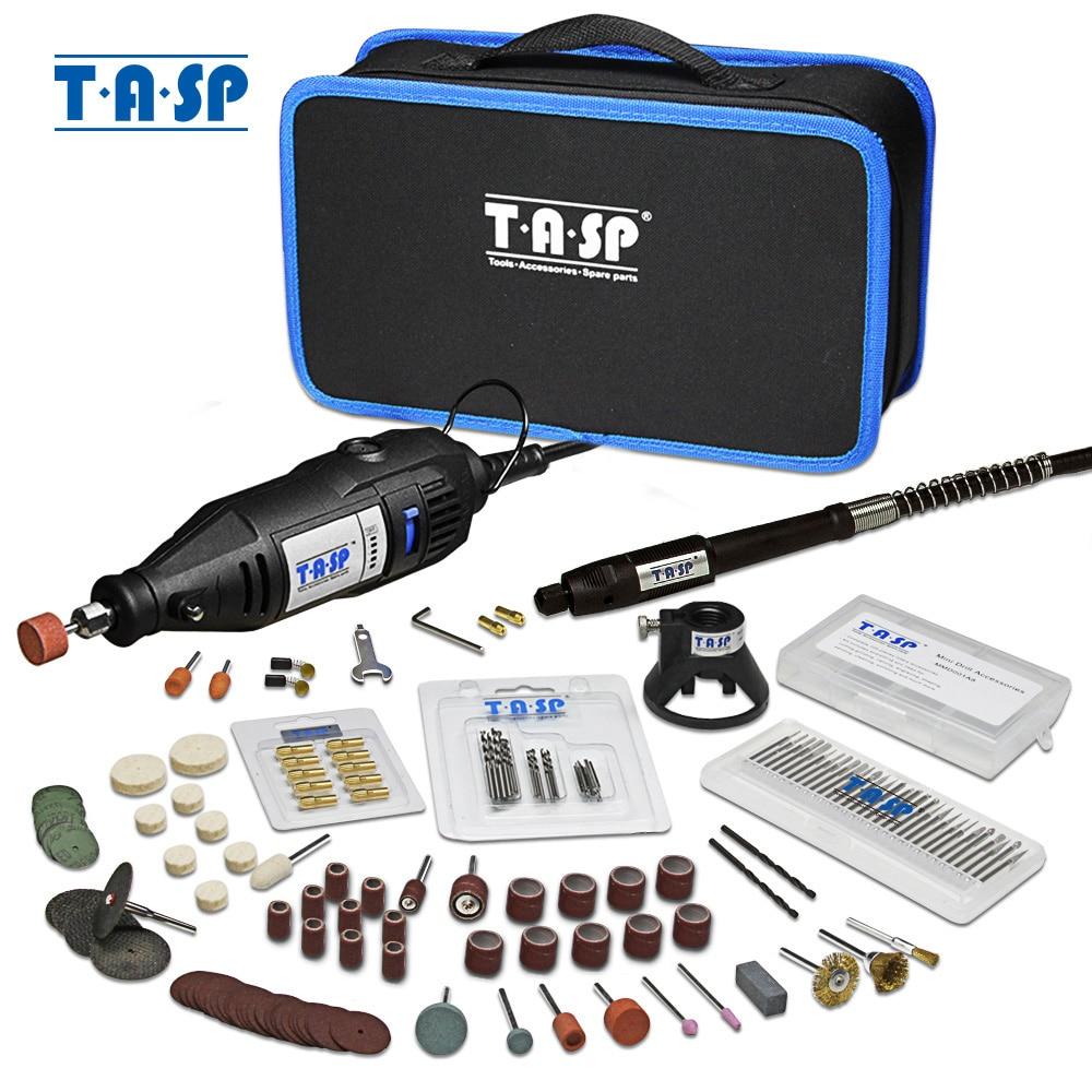 Tasp conjunto de ferramentas rotativas 230v 130w, dremel elétrico com mini broca e acessórios para gravação projetos