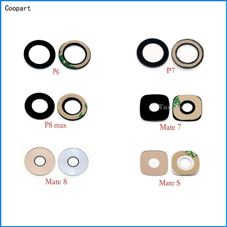 2pcs/lot Coopart New Back Rear Camera Lens Glass Replacement For Huawei Mate7 Mate8 MateS Ascend P6 P7 P8MAX With Sticker