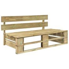 Banco de madera para palés de jardín