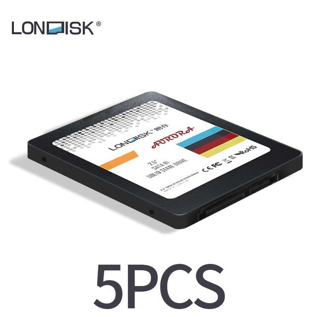 LONDISK SSD 5 قطعة/الحزمة SATA 3.0 hdd ssd أقراص بحالة صلبة داخلية 120GB/240GB/480GB/960GB القرص الصلب SSD 2.5 للكمبيوتر