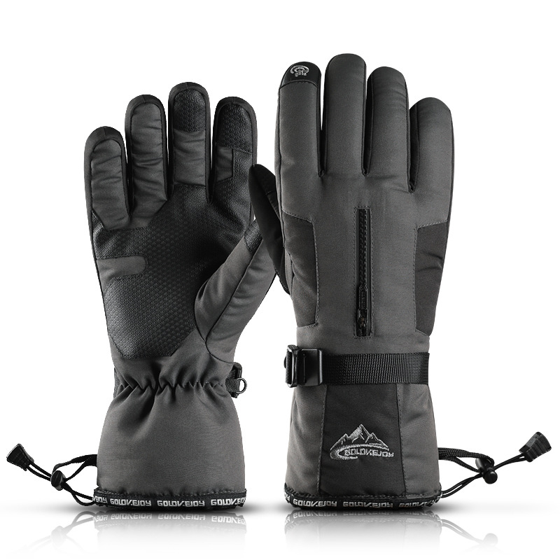 Ski Gloves Men And Women Winter Cycling Cycling Mountaineering Windproof Waterproof Warm Gloves Sports Thickening Plus Cotton