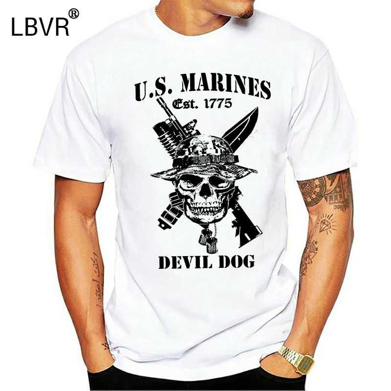 Pria T Shirt AS Marinir Marine Corps Semper Fi Veteran Militer Amerika Serikat Sport T-shirt Baru Tshirt Wanita