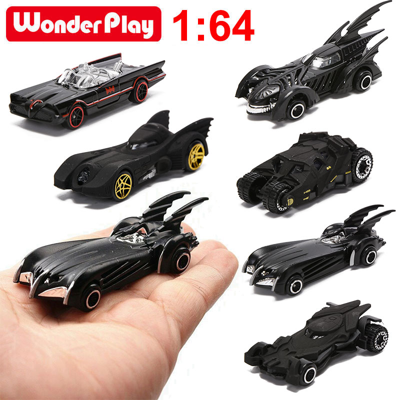 Bat Chariot Set Alloy Car Models 1:64 Toy American Movie 6th Generation Bat Chariot Metal Cars 6pcs/set  Suit For Children Gifts