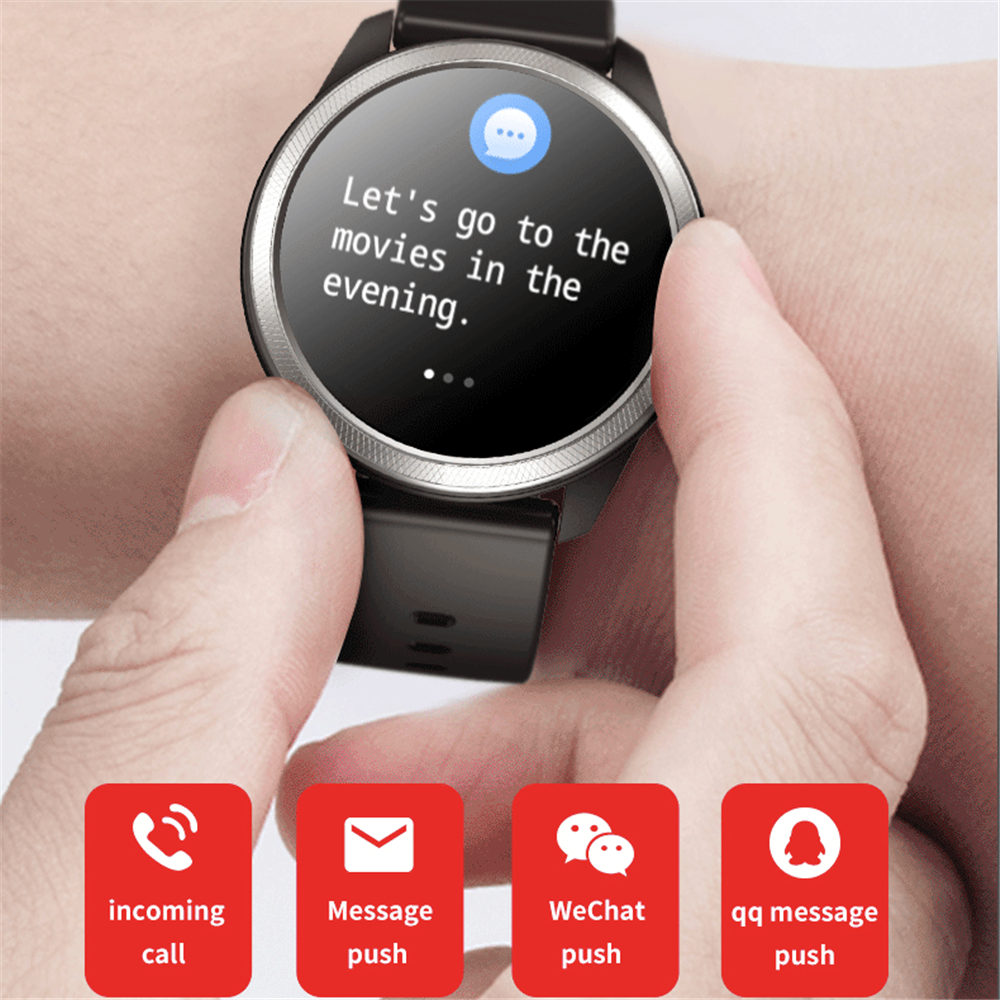 Interpad Smart Watch ECG PGG Heart Rate Monitor Smartwatch Fitness Tracker Wristwatch For Samsung Huawei Xiaomi Apple iphone
