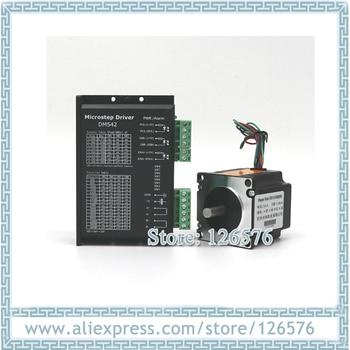 57 2-phase hybrid stepper motor 2.8N.m 57BYGH250D L-112mm and driver DM542 24-50VDC 4.2A Nema23