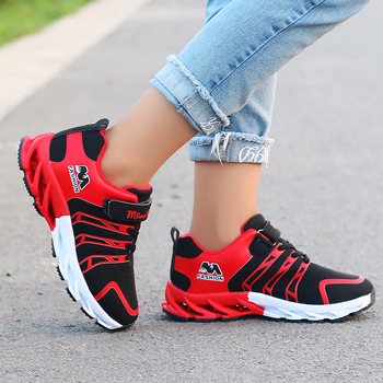 2019 Autumn Kids Shoes Boys Sneakers Breathable Patchwork Hook&Loop Sport Running Children Shoes For Girls Casual Shoes 1