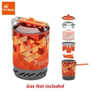Image 4 - Feu érable X2 cuisinière à gaz extérieure brûleur touristique Portable système de cuisson avec échangeur de chaleur Pot FMS X2 Camping randonnée cuisinière à gaz