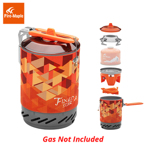 Image 4 - Fire Maple X2 Outdoor Gasfornuis Brander Toeristische Draagbare Koken Systeem Met Warmtewisselaar Pot FMS X2 Camping Wandelen Gas Fornuis