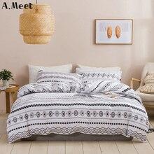 Nordic Bedding Set Queen Quilt Cover Princess�White And Black King Couple Plain Duvet Bed Linen�Pillowcases Housse De Couette